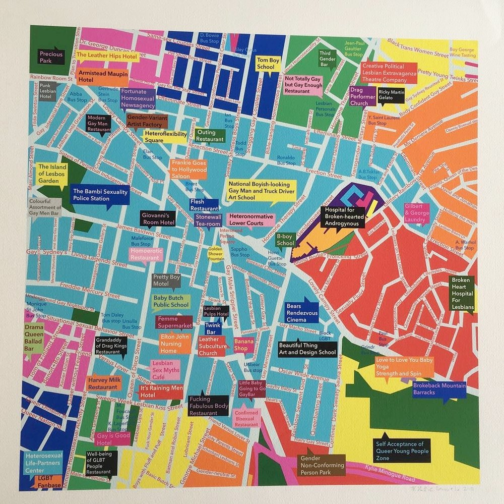 Bo + Benoit 'Sydney Love Map' Credit: Newsagency Gallery