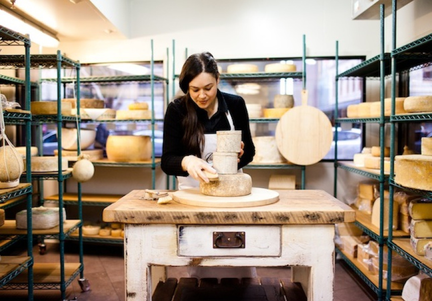 Sogna Ocello with a selection of cheeses in the Surry Hills store. Credit: Xiaohan Shen via Broadsheet