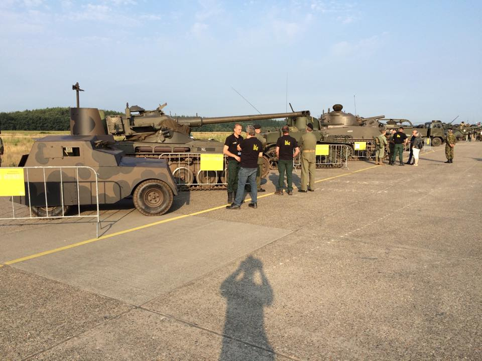 "The line up at the NMM ""Tank Event"" august 28 2016"