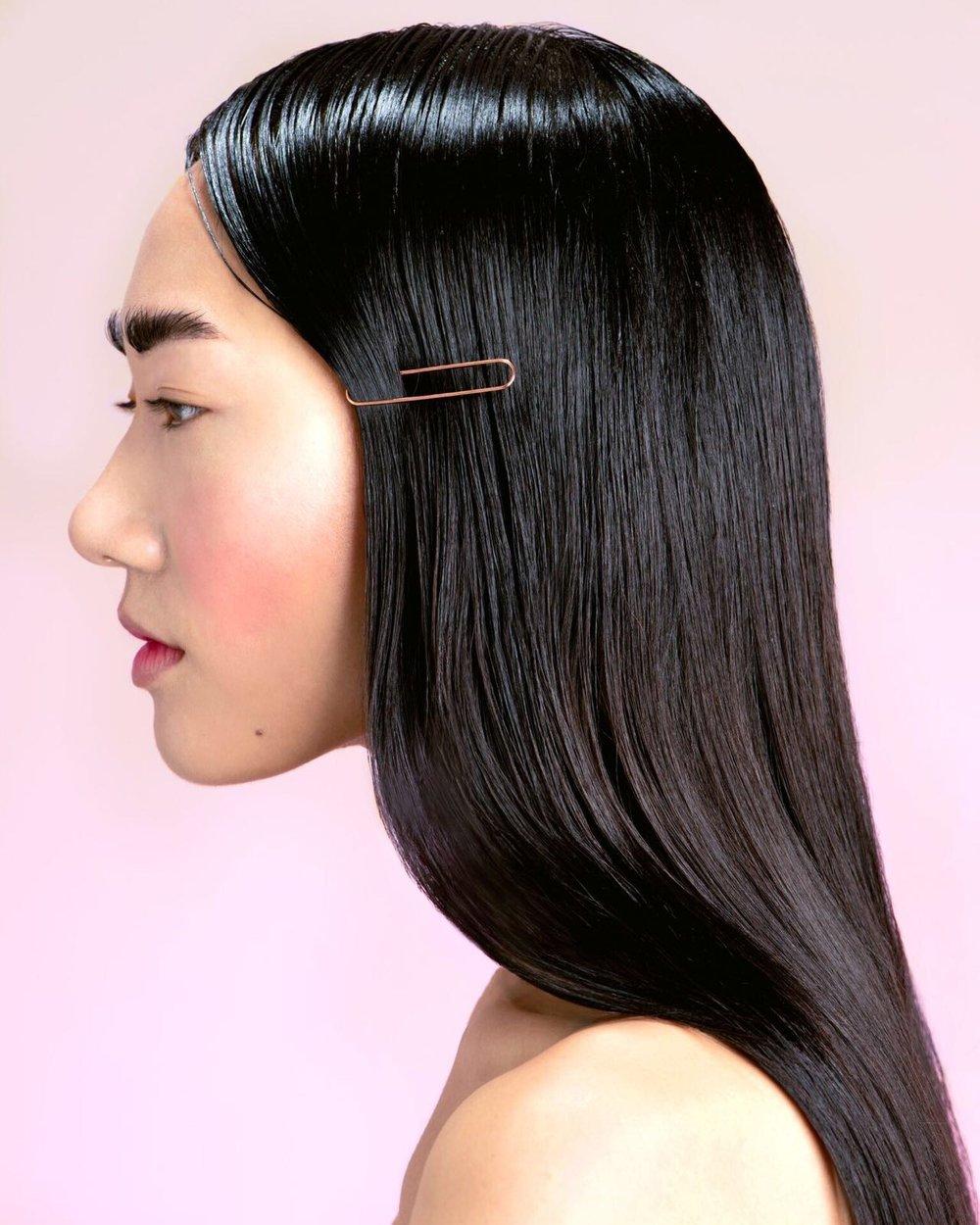 Photographer:  David Sheldrick  Hair:  Shelley Sumner  Makeup:  Louise Lerego  Model:  Jessica Yang