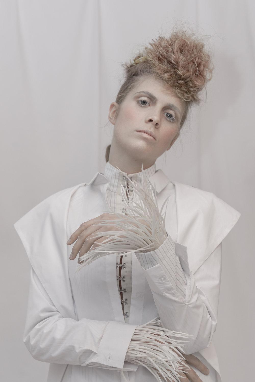Photographer:  Sammy Baxter  Hair:  Shelley Sumner  Makeup:  Louise Lerego  Stylist:  Simon Ekrelius  Model:  Ruby Lowsley Williams