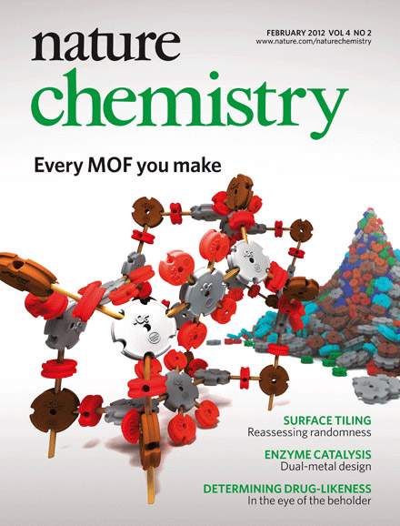 Nature Chemistry cover created by Christopher Wilmer.