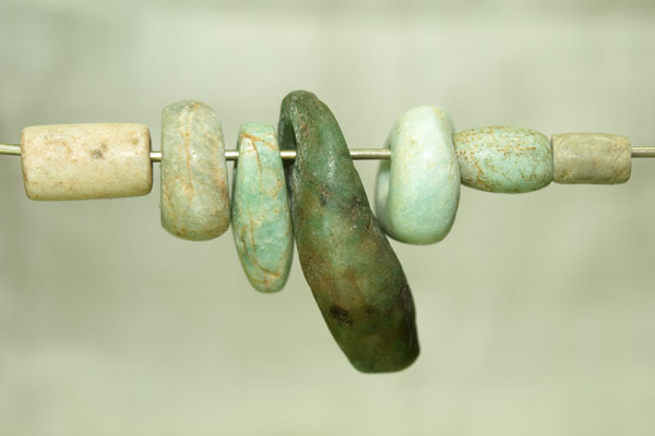 ancient amazonite beads from