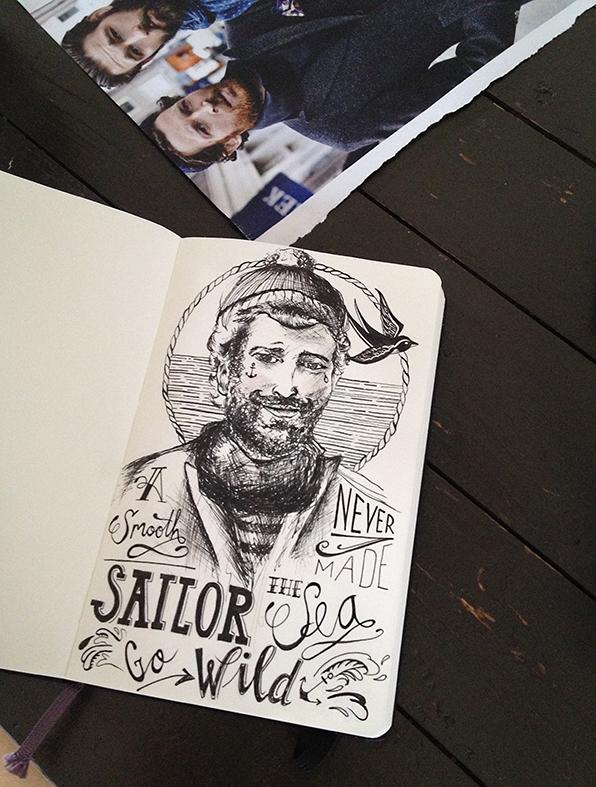 Boven de foto waardoor ik werd geïnspireerd.  A Smooth Sailor  by Darja ©Kokonoma