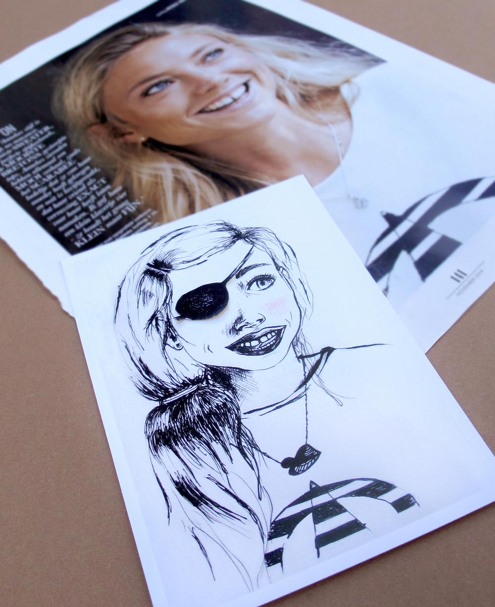 Boven de foto waardoor ik werd  geïnspireerd om   Elle de Pirate te maken. by Darja ©Kokonoma