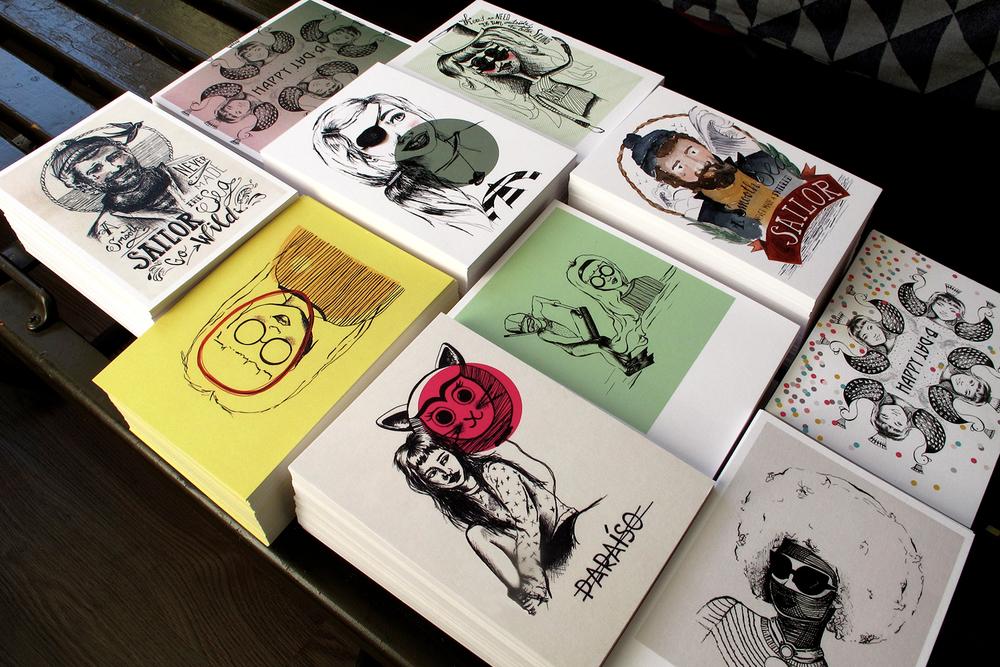 Enkele kaarten (allen verkrijgbaar met of zonder luxe kraftenvelop) _illustraties by Darja ©kokonoma