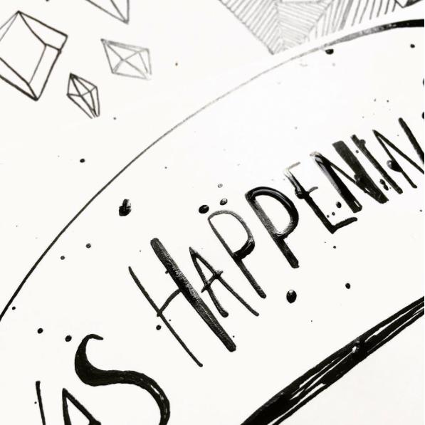 detail van het origineel (handlettering met pen en inkt)©darjabrouwers