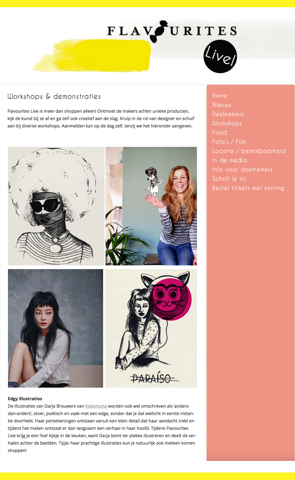 Lees hier het stukje over mijn werk op: flavouriteslive.nl
