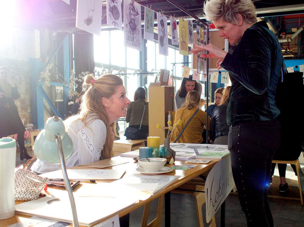 Ervaringen uitwisselen met Karin Luttenberg van Paper Fuel fotografie:©friso leunge