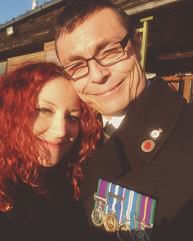 Proud as punch-look at him😍 I may look a little tipsy (as indeed I was...) but I was so happy to spend this thoughtful Remembrance day with my lover, his family and friends. A soldier. A wonderful man. Mine. 💚❤️💚❤️💚❤️💚