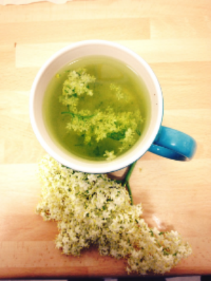 Elderflower infusion