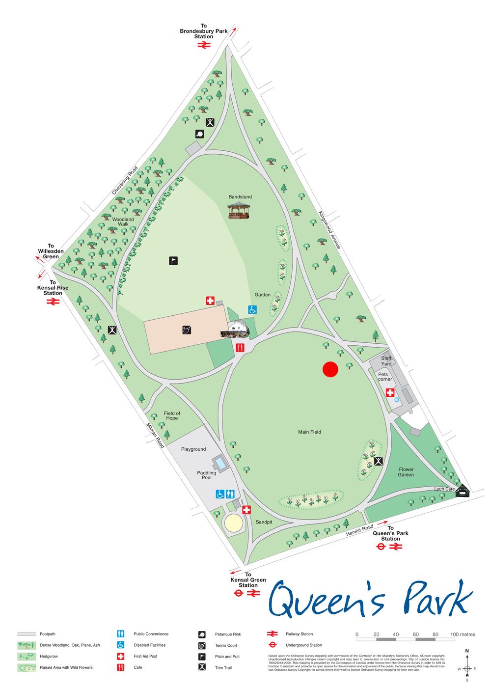 Meet at the red circle