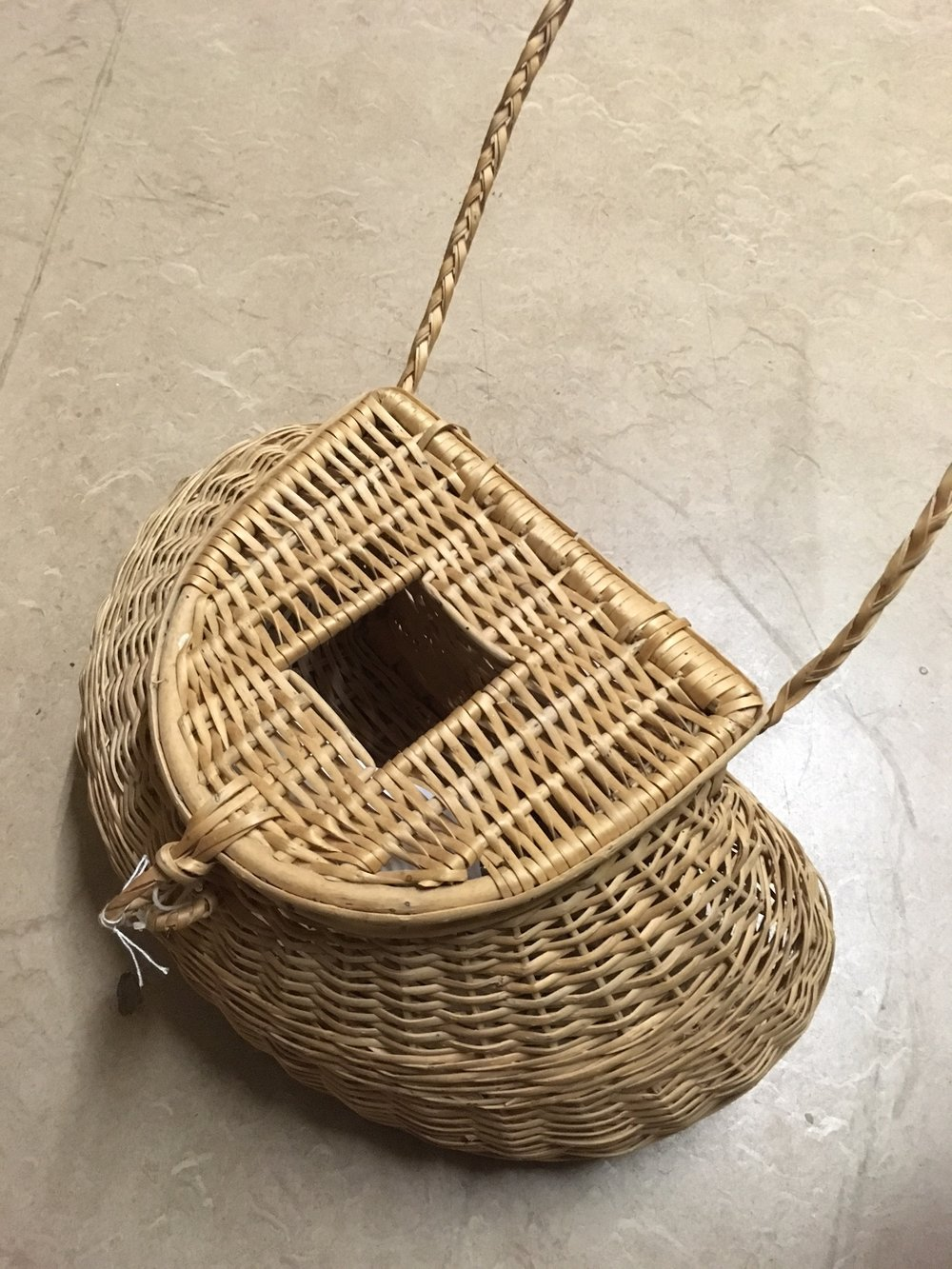 A fisherman's (mushroom) basket: Its curved shape hugs the hips for comfort.
