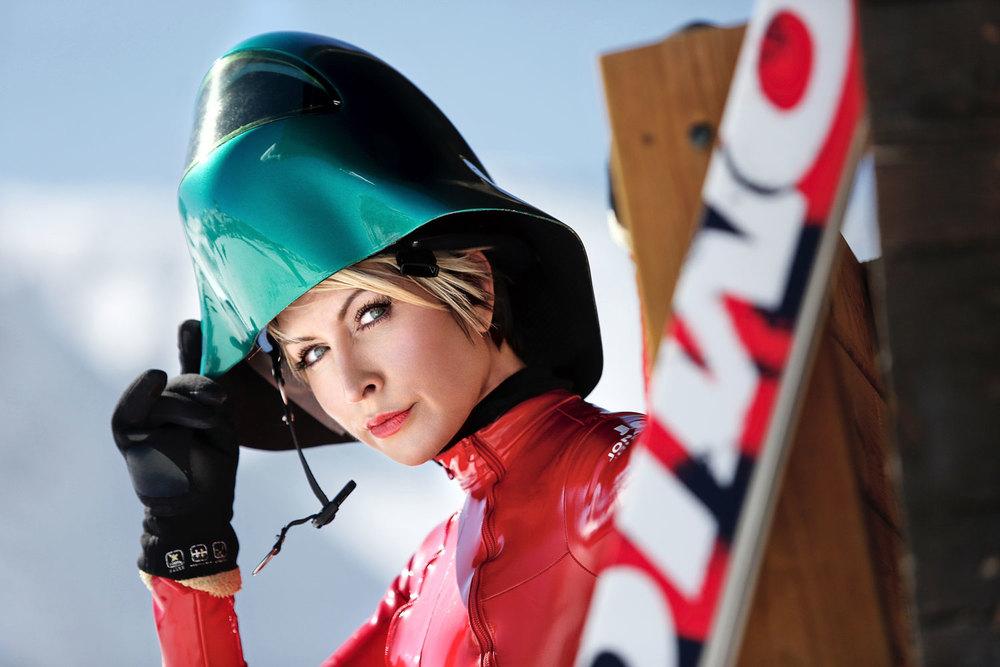 Girl wear a helmet cam - 3 3