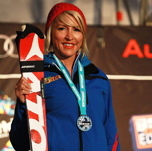 Heather picks up another medal for alpine ski racing. This time it was Silver at the 2013 World Cup in New Zealand.