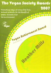 2007 Vegan Society Achievement Awards