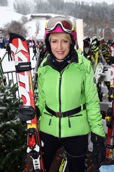 VIP Guest of honour Heather, attends the 2015 Kitzbuhel Charity race.