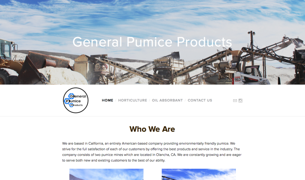 General Pumice Products  of Olancha, CA