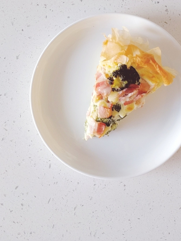 Combi Steam Oven Broccoli and Bacon Quiche