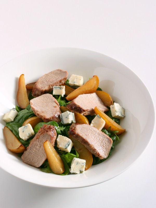 Combi Steam Pork, Pear and Gorgonzola Salad with Maple, Soy and Ginger