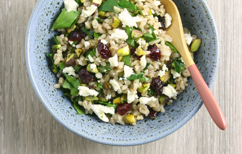Steam Oven Brown Rice Salad