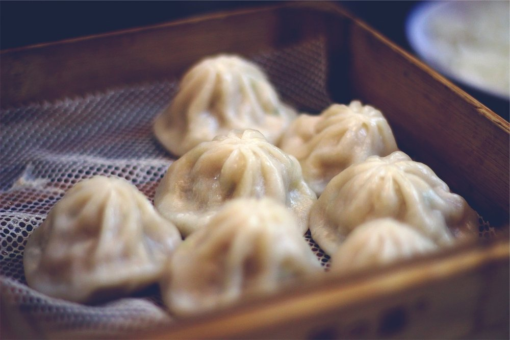 Steamed dumplings for dim sum - these are easy to cook in a steam oven