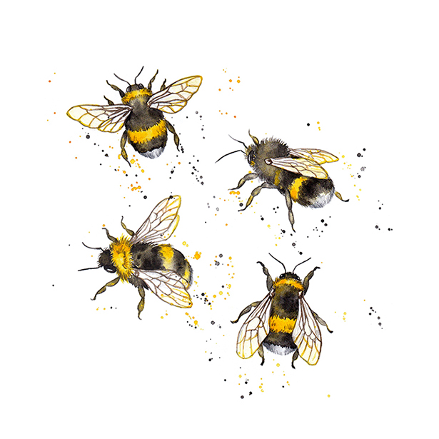 Pattern Design Honey Bees Bumble