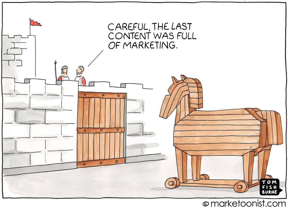 Soyons vigilants, le dernier contenu était rempli de Marketing !