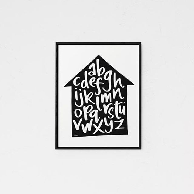 my alphabet posters have been getting much love in my shop lately! makes me happy to know that babies are gonna learn from something i designed.  etsy.com/shop/imaginairyart  #homedecor #blackandwhite #kidsdecor #alphabet #alphabetposter #minimalism #nurserydecor #etsyseller