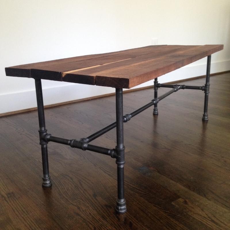 Riverside Coffee Table   Reclaimed Wood U0026 Steel Pipe Coffee Table    Reclaimed Wood Coffee Table