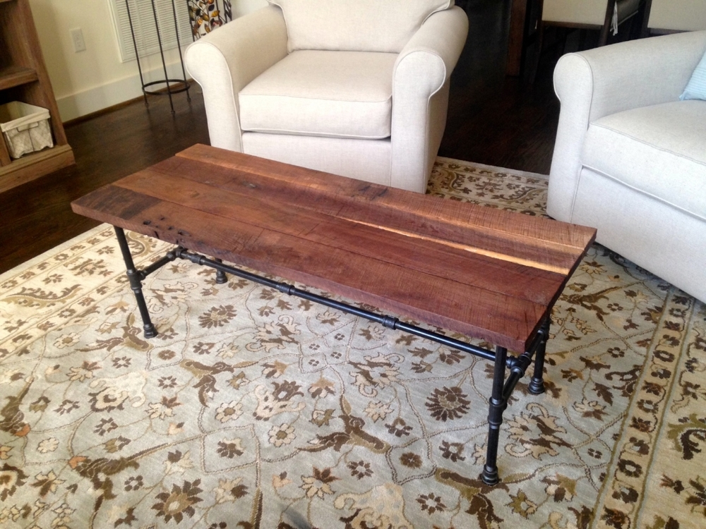 Riverside Coffee Table   Reclaimed Wood U0026 Steel Pipe Coffee Table    Reclaimed Wood Coffee Table