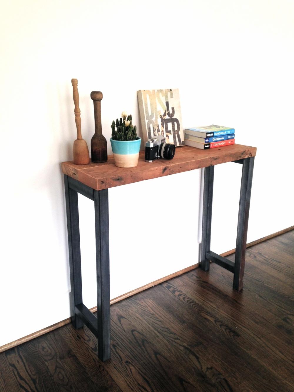 The Harper Console Table   Reclaimed Wood U0026 Steel