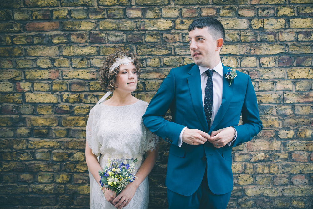 Cool London wedding photography bride and groom