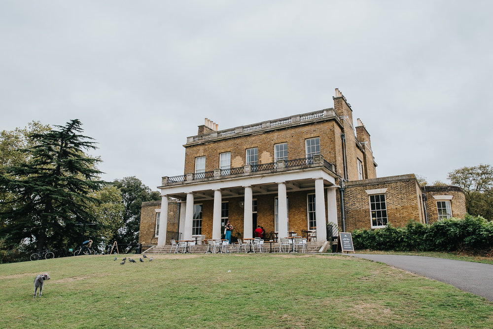 Exterior of Clissold House London during wedding