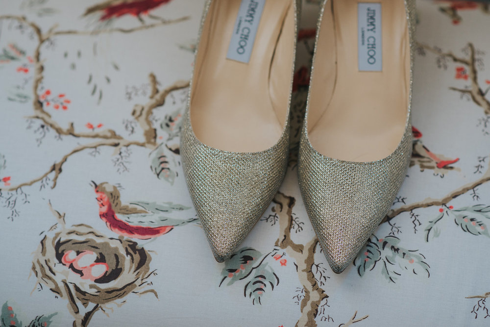 Wedding photography of Jimmy Choo shoes