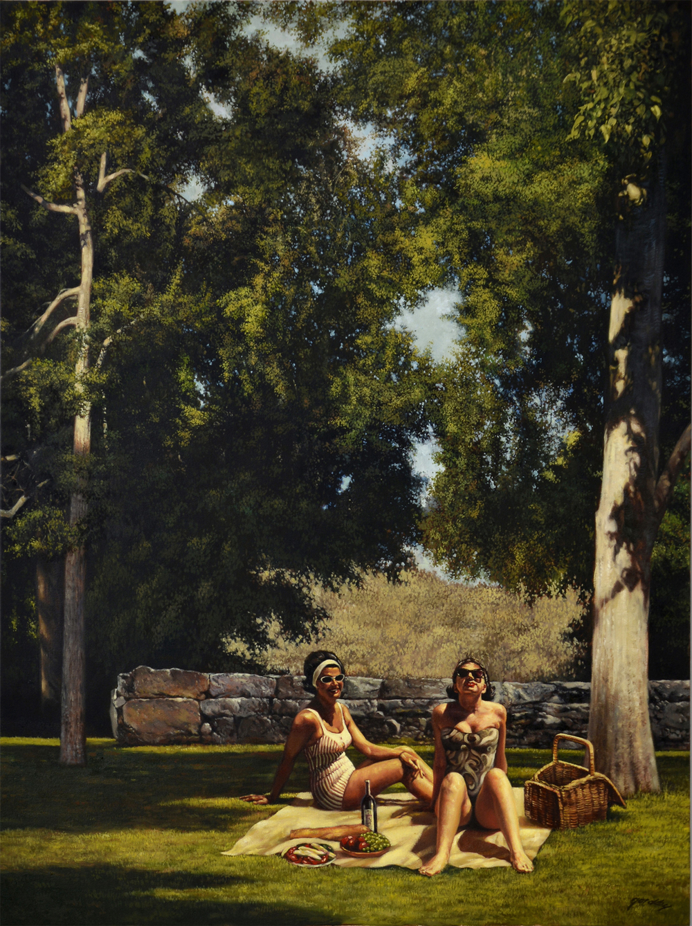 Afternoon Retreat, oil on canvas, 48 x 36 in.