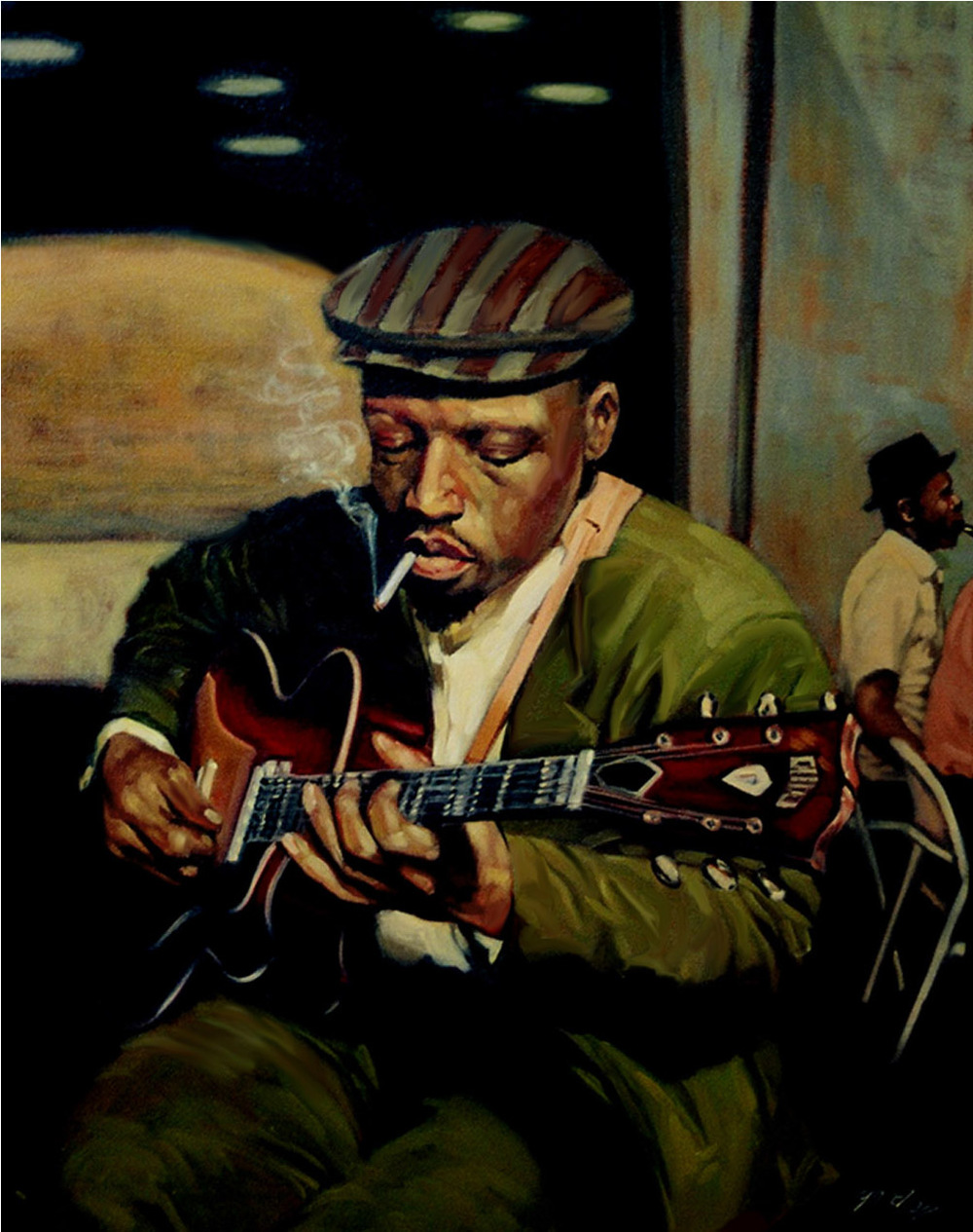 Sideman, oil on canvas, 30 x 24 in.