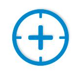 Precision crosshairs icon