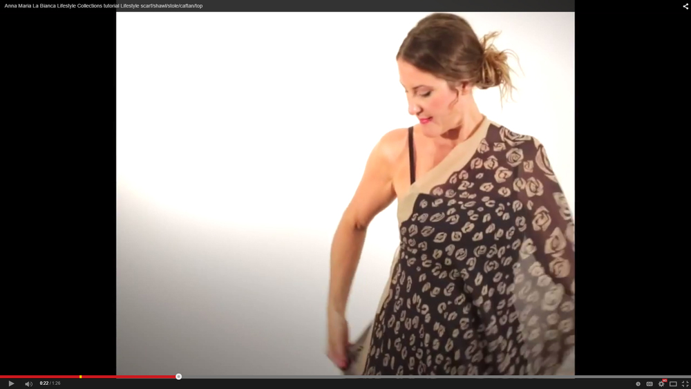 ANIMAL-ROSE Scarf and Caftan (Oversize Oblong Scarf) tutorial video