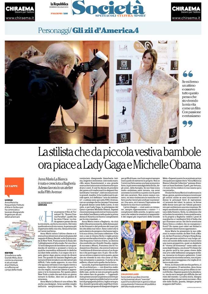 La Repubblica 20 Luglio 2014 by Lucio Luca Online httppalermo.repubblica.itcronaca20140722newsla_stilista_che_da_piccola_vestiva_le_bambole-92163556.jpg