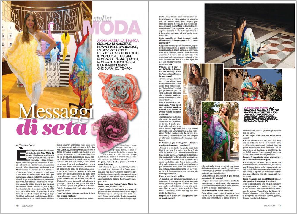 November 10 2014 SiciliaInRosa inserto su La Sicilia by VeneraCoco complete article.jpg