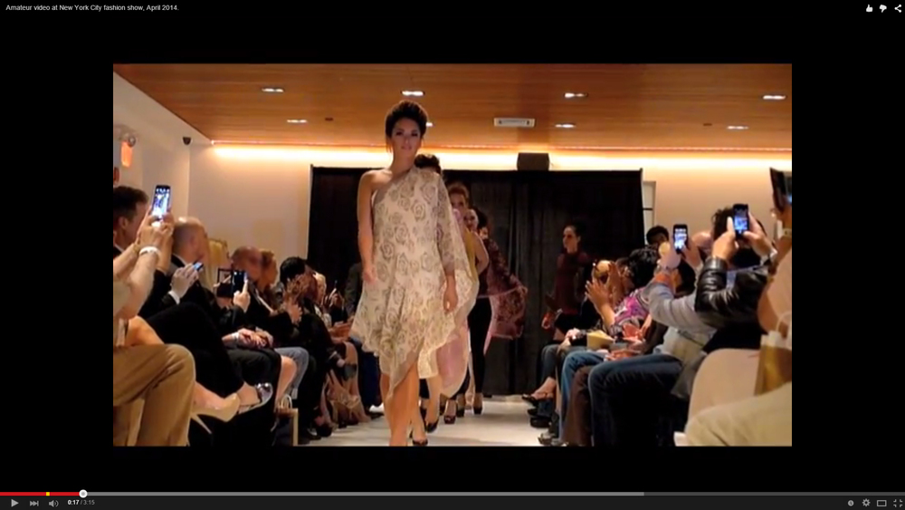 Amateur video at Manhattan fashion show New York, NY