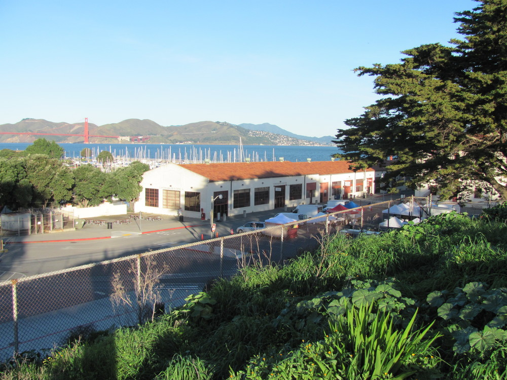 View from Fort Mason Center Farmers' Market of the Golden Gate