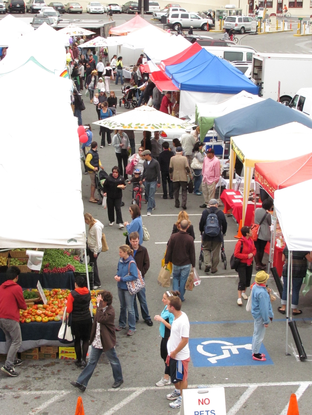 local farms meet San Francisco residents at Fort Mason Center Farmers' Market