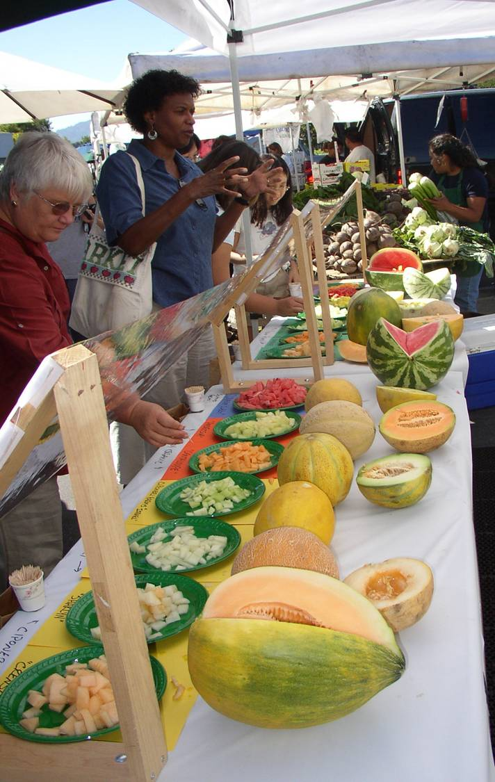 Fort Mason Center Farmers' Market Melon Tasting