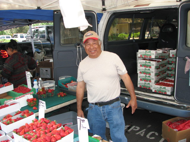 Rudy Valesquez at Diablo Valley Farmers' Market