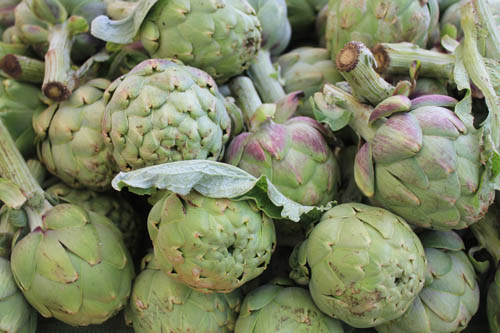 San Leandro Farmers' Market at Bayfair Center artichokes