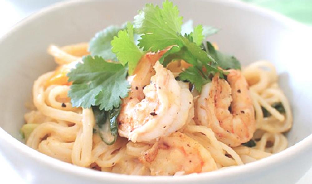 konjac noodles with shrimp
