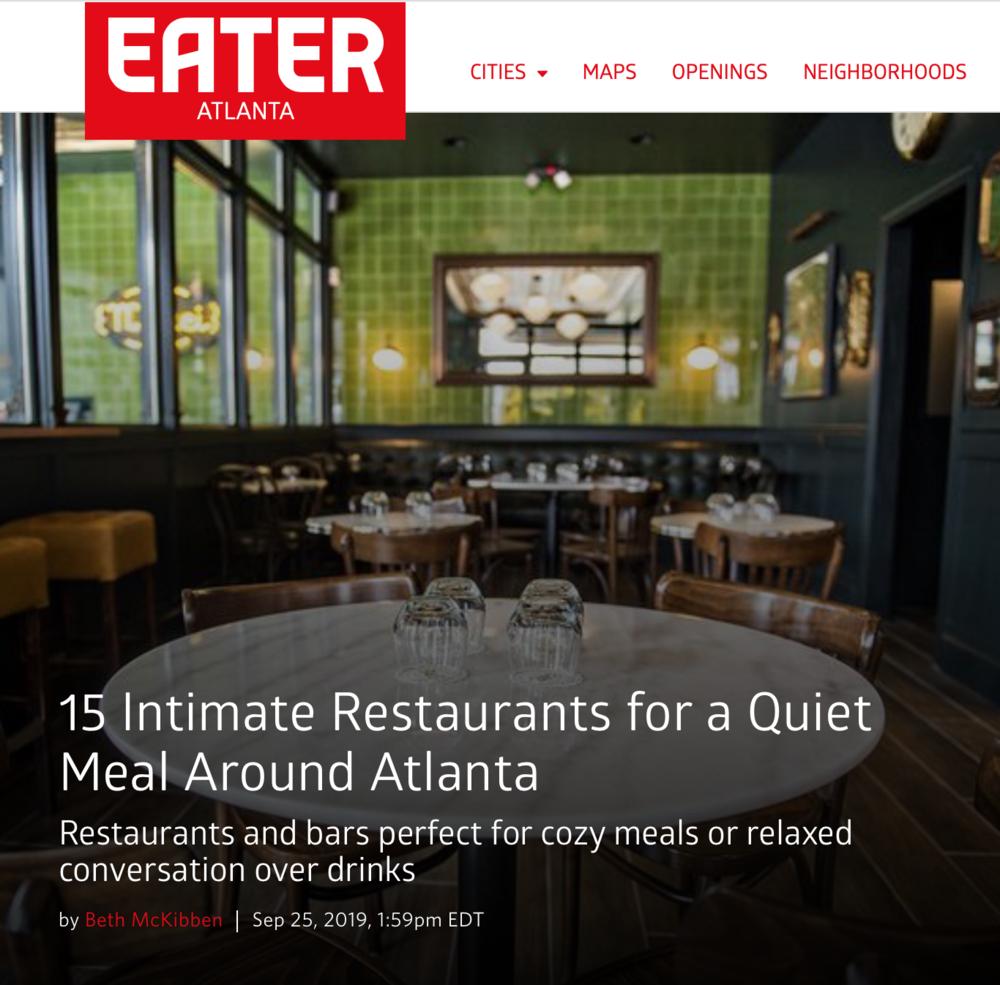 Floataway Cafe Named In Eater Atlanta S 15 Intimate