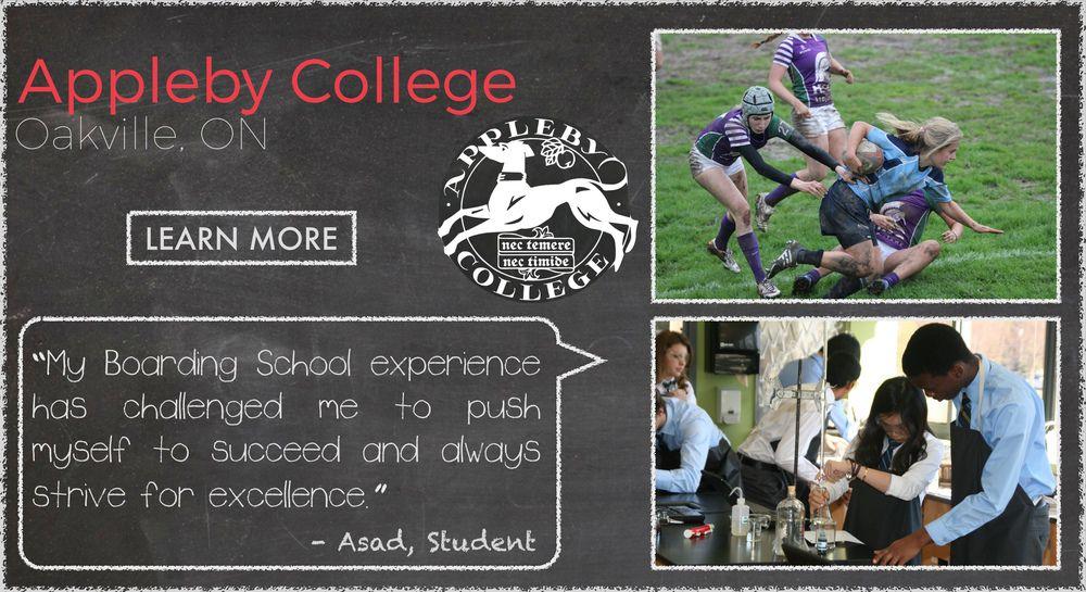 Appleby College  Boarding School Testimonial